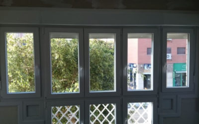 Adaptación PVC en ventanal